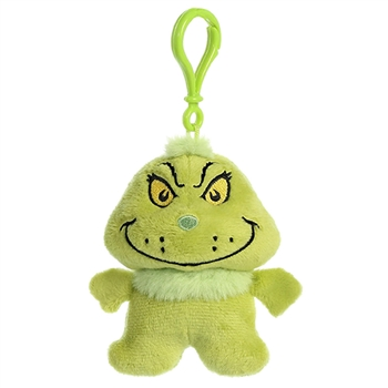 Dr. Seuss Grinch Clip-On Stuffed Animal by Aurora