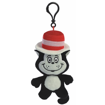 Dr. Seuss Cat in the Hat Clip-On Stuffed Animal by Aurora