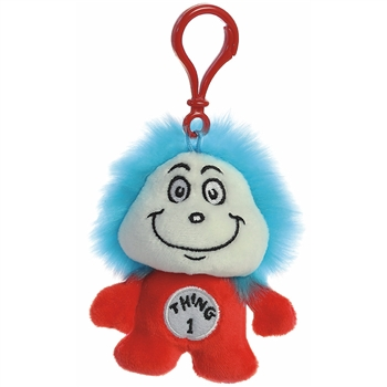 Dr. Seuss Thing 1 Clip-On Stuffed Animal by Aurora