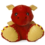 Sparks the Taddle Toes Stuffed Red Dragon by Aurora
