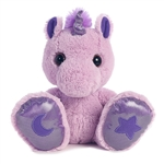 Skywriter the Taddle Toes Stuffed Purple Unicorn by Aurora