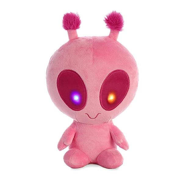 Solar The Light Up Pink Alien Stuffed Animal Aurora Stuffed Safari