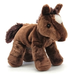 Chestnut the Stuffed Brown Horse by Aurora