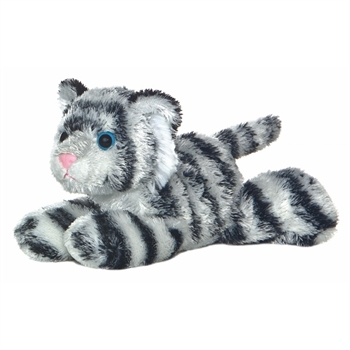 Shazam the Plush White Tiger Mini Flopsie By Aurora