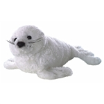 Stuffed White Harp Seal by Aurora