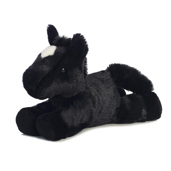 Beau The Stuffed Black Horse By Aurora At Stuffed Safari