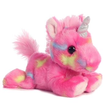 Jellyroll the Small Stuffed Pink Unicorn Bright Fancies by Aurora