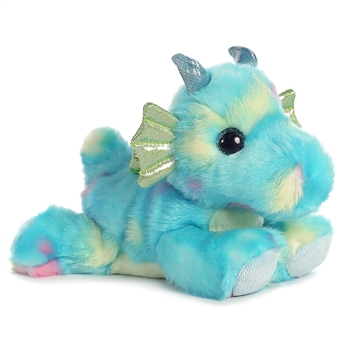 Sprinkles the Small Stuffed Blue Dragon Bright Fancies by Aurora