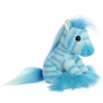 Little Blueberry the Stuffed Blue Zebra Magnificent Manes by Aurora
