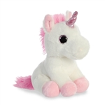 Small Stuffed White Unicorn with Pink Horn Sparkle Tales by Aurora
