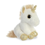 Small Stuffed White Unicorn with Gold Horn Sparkle Tales by Aurora