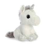 Small Stuffed White Unicorn with Silver Horn Sparkle Tales by Aurora