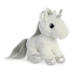 Stuffed White Unicorn with Silver Horn Sparkle Tales by Aurora