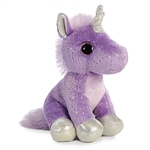 Sprinkle the Small Stuffed Purple Unicorn with Silver Hooves by Aurora