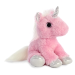 Blossom the Stuffed Pink Unicorn with Silver Hooves by Aurora