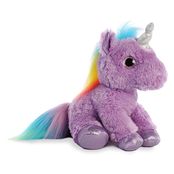 Electra the Stuffed Purple Unicorn with Purple Hooves by Aurora