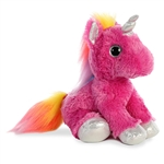 Cosmic the Stuffed Fuchsia Unicorn with Silver Hooves by Aurora