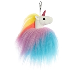 Twirly the Rainbow Clip-On Unicorn Stuffed Animal by Aurora