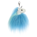 Jiggle the Blue Clip-On Unicorn Stuffed Animal by Aurora