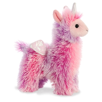 Poof the Small Pink Stuffed Llamacorn Sparkle Tales Plush by Aurora