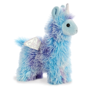 Poof the Small Blue Stuffed Llamacorn Sparkle Tales Plush by Aurora