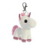 Lolly the White Clip-On Stuffed Unicorn Sparkle Tales by Aurora