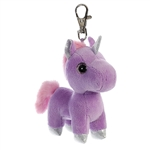 Bonbon the Purple Clip-On Stuffed Unicorn Sparkle Tales by Aurora