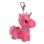 Rainbow the Hot Pink Clip-On Stuffed Unicorn Sparkle Tales by Aurora