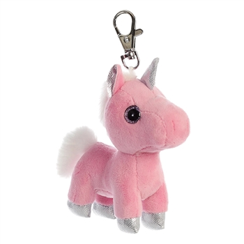 Blossom the Pink Clip-On Stuffed Unicorn by Aurora