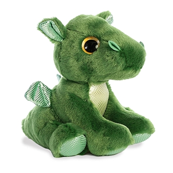 Rumble the Small Green Stuffed Dragon Big Eyed Sparkle Tales by Aurora