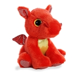Flame the Small Red Stuffed Dragon Big Eyed Sparkle Tales by Aurora