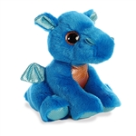 Rocket the Small Blue Stuffed Dragon Big Eyed Sparkle Tales by Aurora