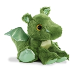 Roar the Green Stuffed Dragon Big Eyed Sparkle Tales Plush by Aurora