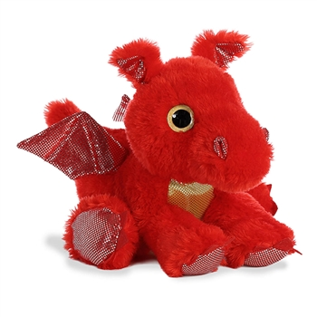 Sizzle the Red Stuffed Dragon Big Eyed Sparkle Tales Plush by Aurora