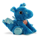 Flash the Blue Stuffed Dragon Big Eyed Sparkle Tales Plush by Aurora