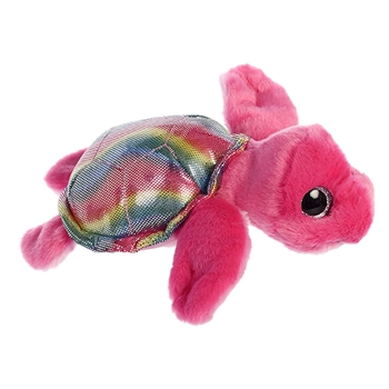 Oceania the Small Pink Stuffed Sea Turtle Sparkle Tales by Aurora