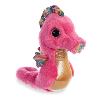 Reef the Small Pink Stuffed Seahorse Sparkle Tales by Aurora