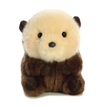 Smiles the Sea Otter Stuffed Animal Rolly Pet by Aurora