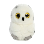 Hoot the Snowy Owl Stuffed Animal Rolly Pet by Aurora