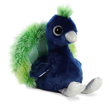 Penelope the Small Blue Stuffed Peacock Sparkle Tales by Aurora