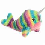 Rainbow Stripes Narwhal Stuffed Animal by Aurora