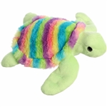 Rainbow Stripes Turtle Stuffed Animal by Aurora