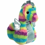 Rainbow Stripes Seahorse Stuffed Animal by Aurora