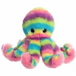 Rainbow Stripes Octopus Stuffed Animal by Aurora