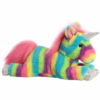 Rainbow Stripes Unicorn Stuffed Animal by Aurora