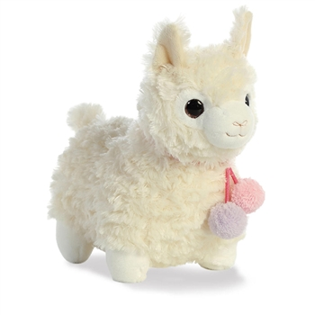 Coconut the Puffy White Llama Stuffed Animal by Aurora