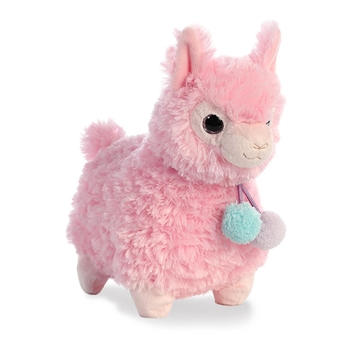 Lychee the Puffy Pink Llama Stuffed Animal by Aurora