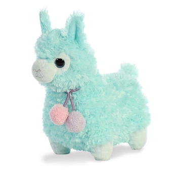 Kiwi the Puffy Teal Llama Stuffed Animal by Aurora