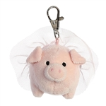 Blossom the Clip-On Stuffed Pink Pig with Tutu by Aurora