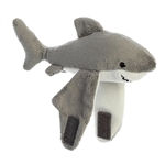 Stuffed Shark Snap Bracelet Wristamals Plush by Aurora